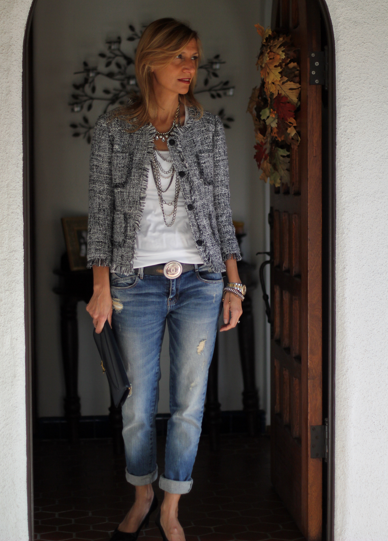 Distressed Womens Jeans