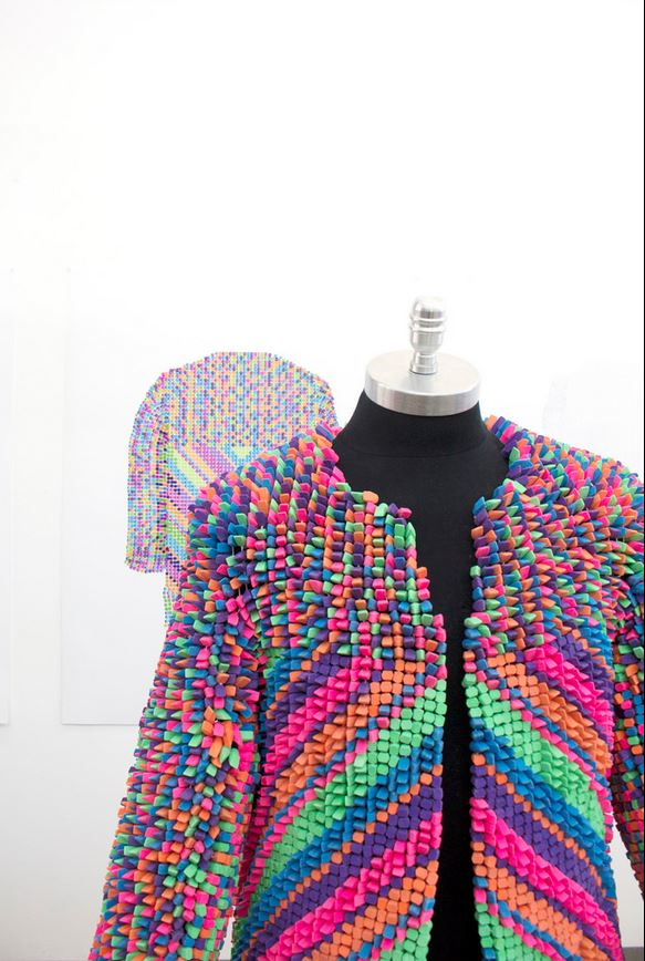 Jacket Made From Erasers - Very Colorful