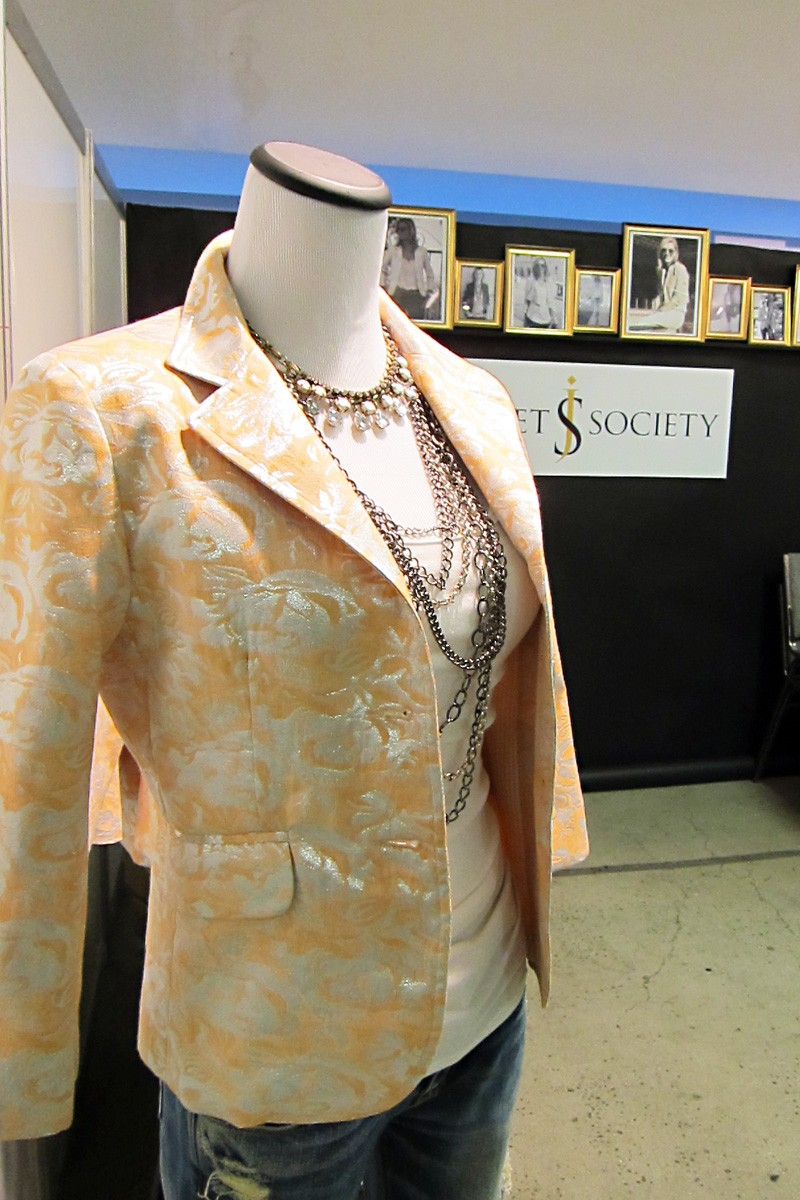My Orange Metalic Brocade Cropped Blazer Was Another Popular Style