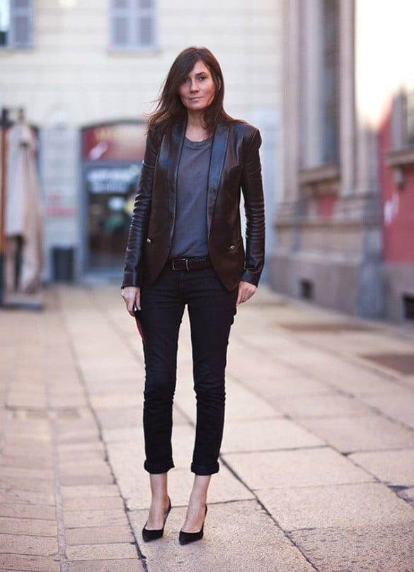 History of the leather jacket -Street style 2 (2)