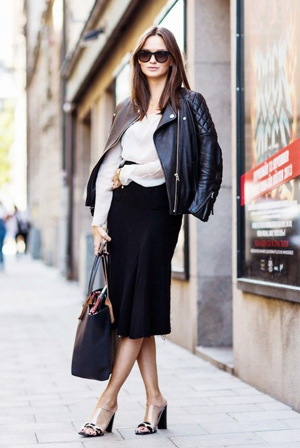 History of the leather jacket -Street style # 5