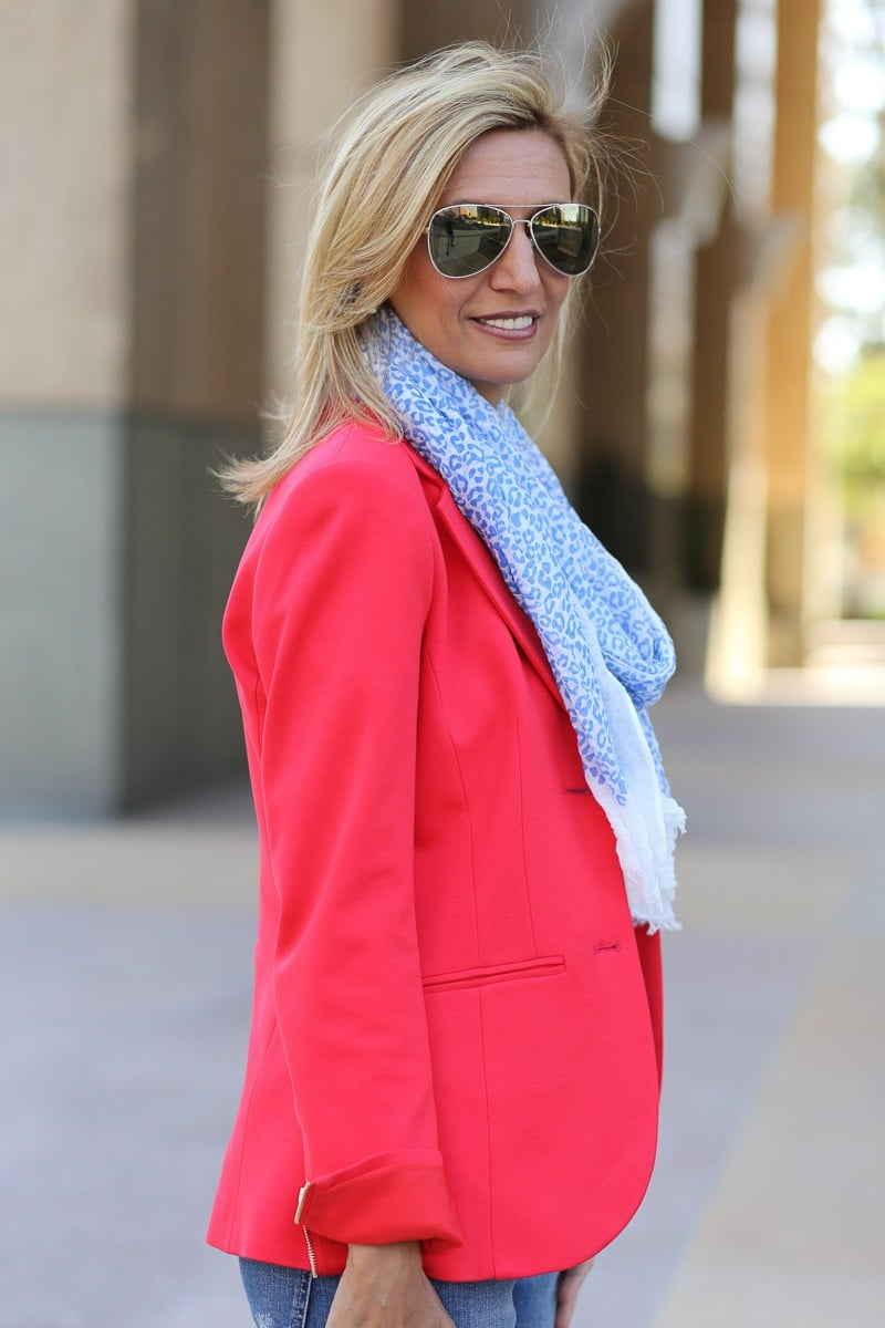 Jacket Society Wearing My Red Theory Blazer To See The Movie Dior And I-3533