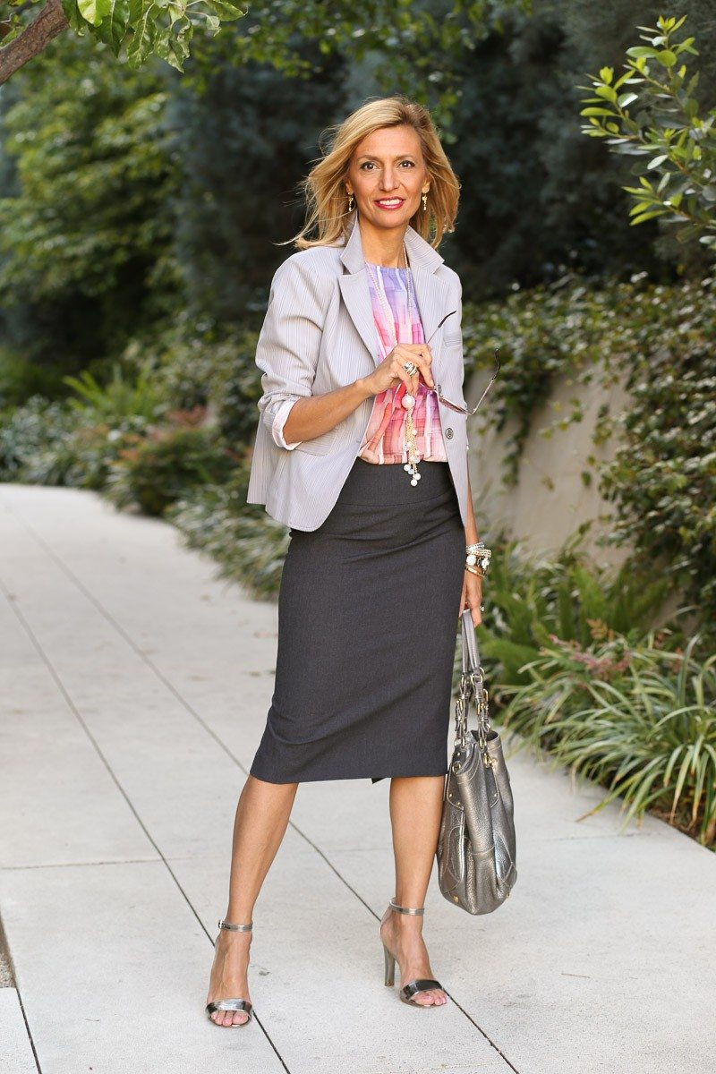 jacket society Take A Look At Our Savannah Stripe Blazer Styled Two Ways-3909