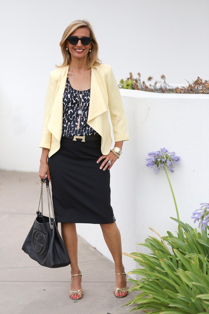 Jacket-Society-Our Soft Lemon Drop Jacket Styled For The Office-4897