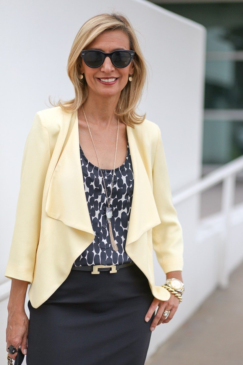 Jacket-Society-Our Soft Lemon Drop Jacket Styled For The Office-4902