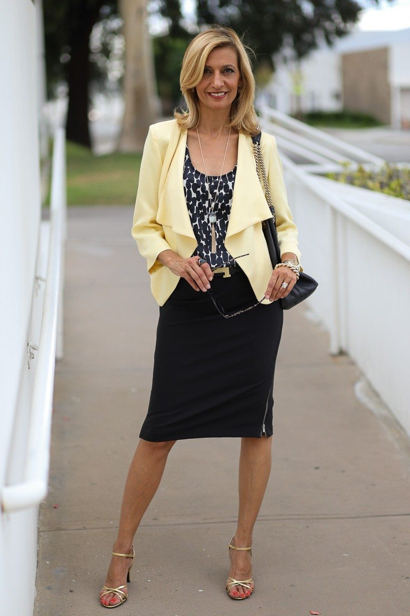 Jacket-Society-Our Soft Lemon Drop Jacket Styled For The Office-4904