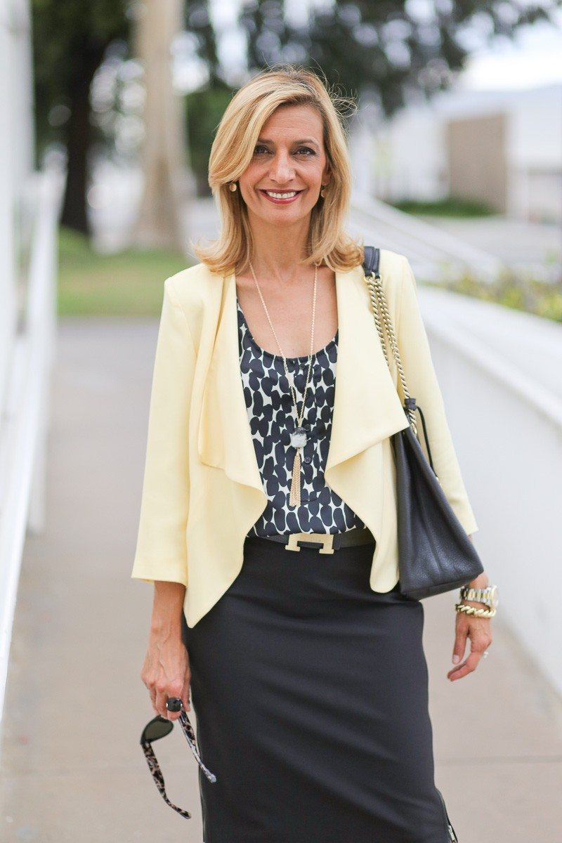 Jacket-Society-Our Soft Lemon Drop Jacket Styled For The Office-4906