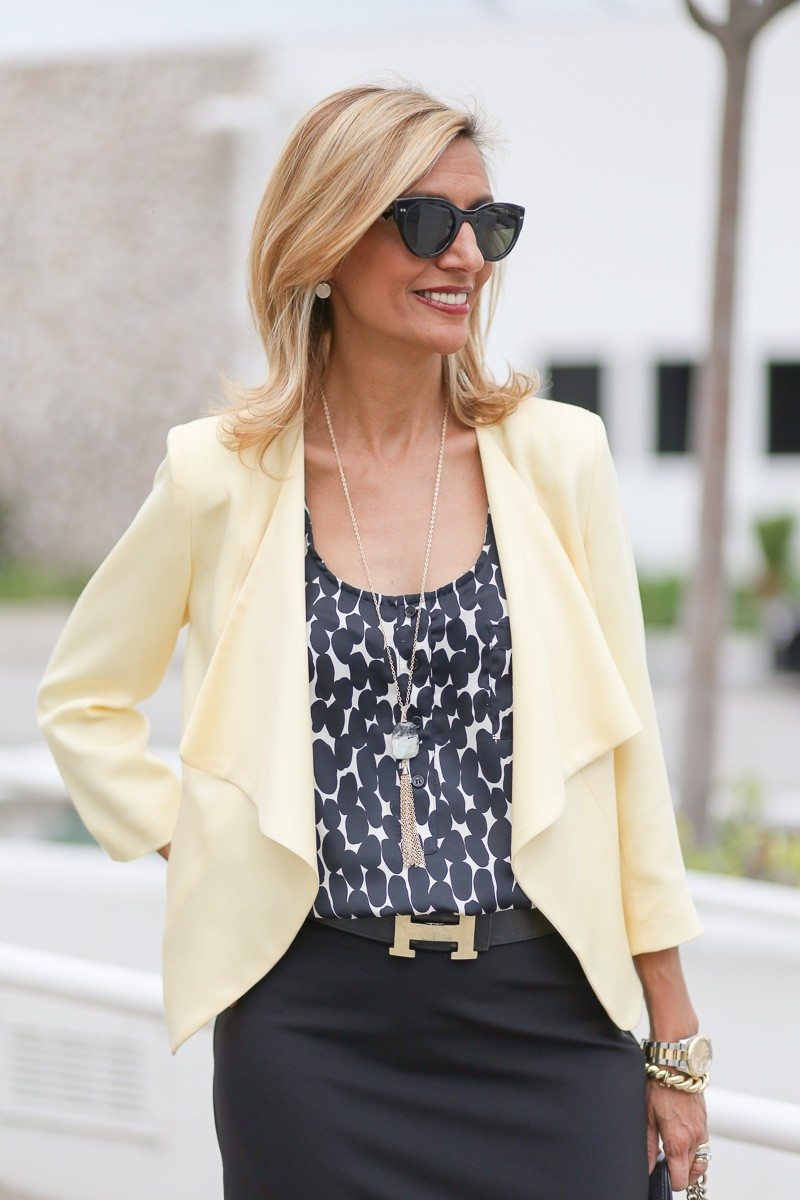 Jacket-Society-Our Soft Lemon Drop Jacket Styled For The Office-4910