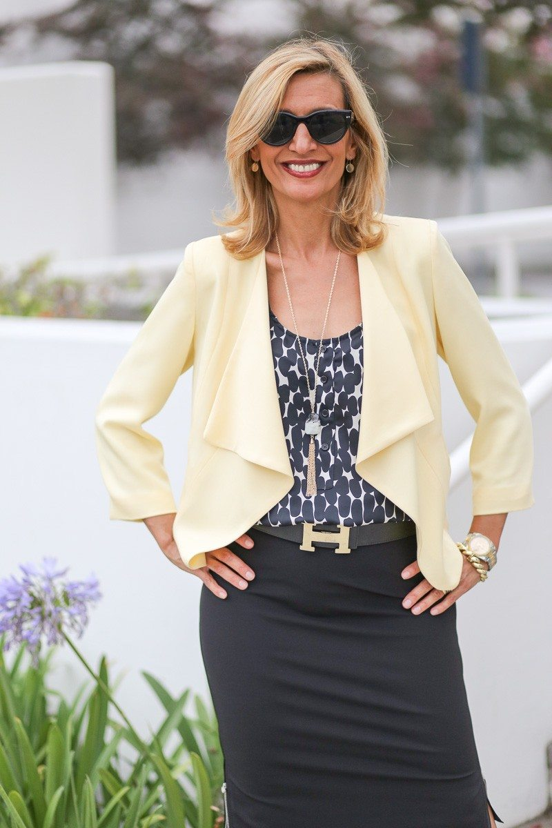 Jacket-Society-Our Soft Lemon Drop Jacket Styled For The Office-4920