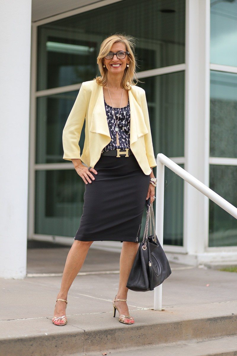 Jacket-Society-Our Soft Lemon Drop Jacket Styled For The Office-4947