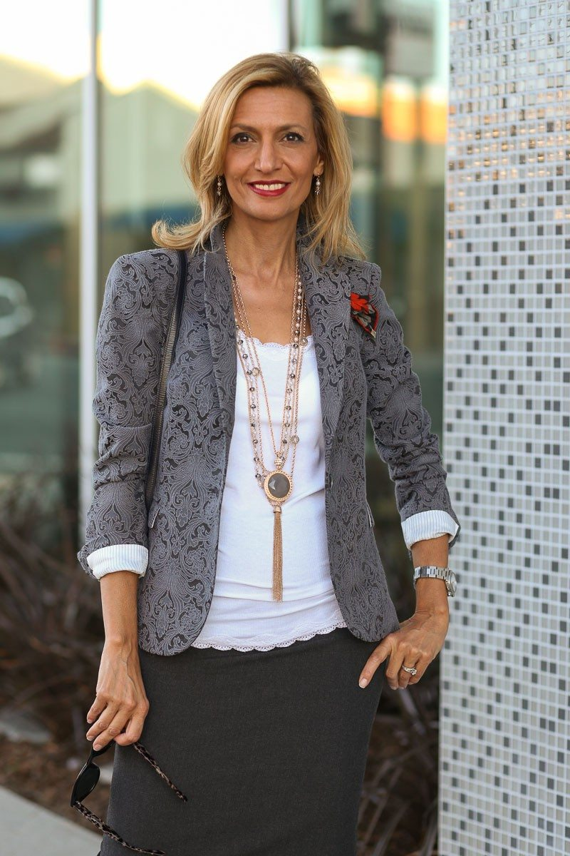 Jacket-Society-Fall In Love With Our Florence Jacquard Blazer-0714