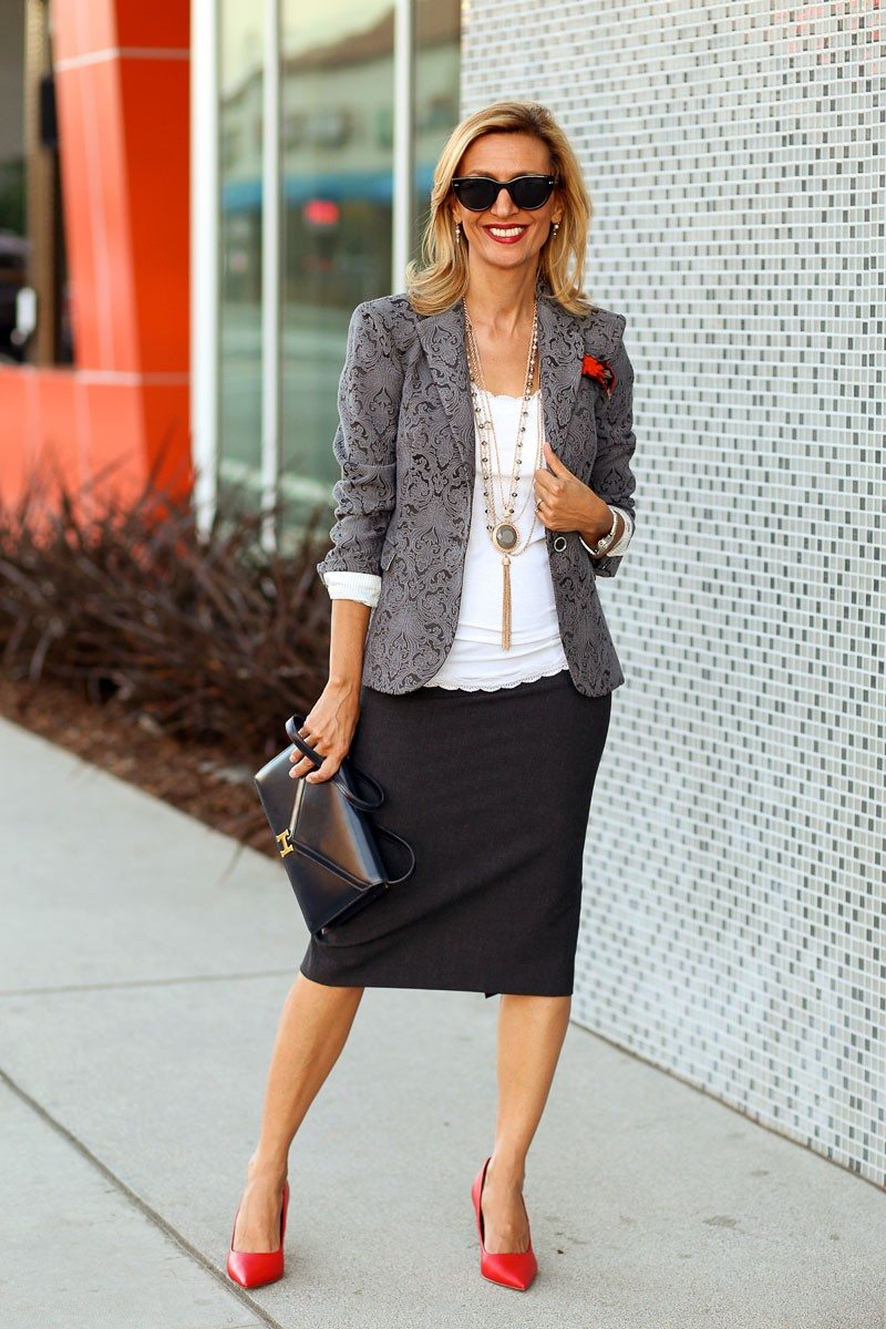 Jacket-Society-Fall In Love With Our Florence Jacquard Blazer-2