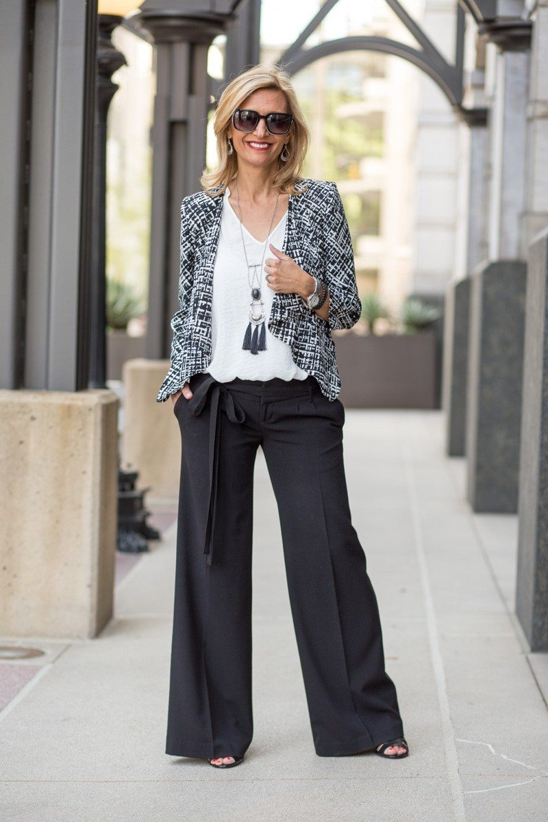 Jacket-Society-The Wide Leg Trouser Styled With Our Mondrian Jacket-3605