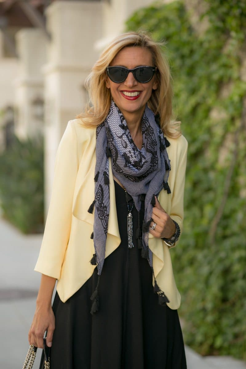 little-Black Dress With Lemon Drop Jacket-Jacket-societyt-4314