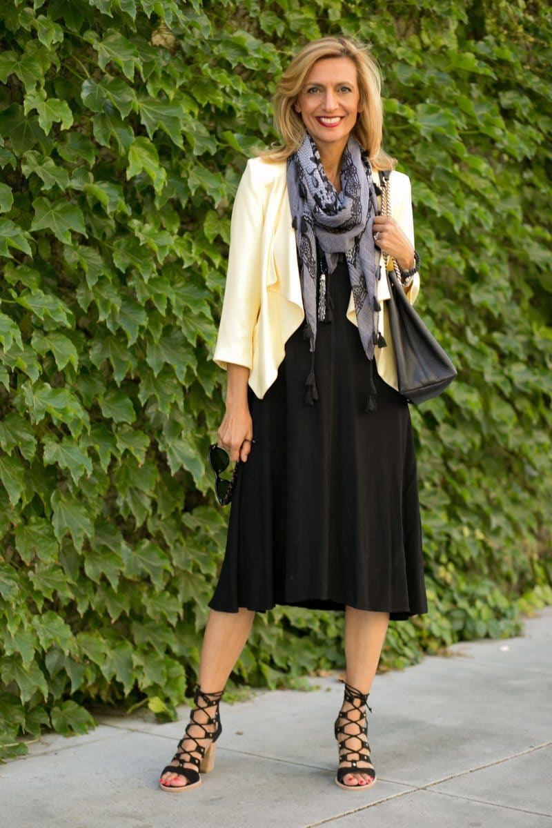 little-Black Dress With Lemon Drop Jacket-Jacket-societyt-4318