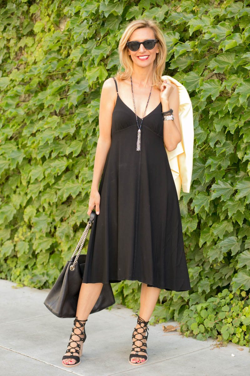 little-Black Dress With Lemon Drop Jacket-Jacket-societyt-4354