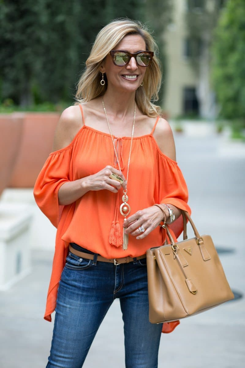 orange-Cold-Shoulder-Top-Jacket-society-4762