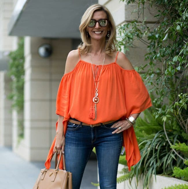 orange-Cold-Shoulder-Top-Jacket-society-FEAT