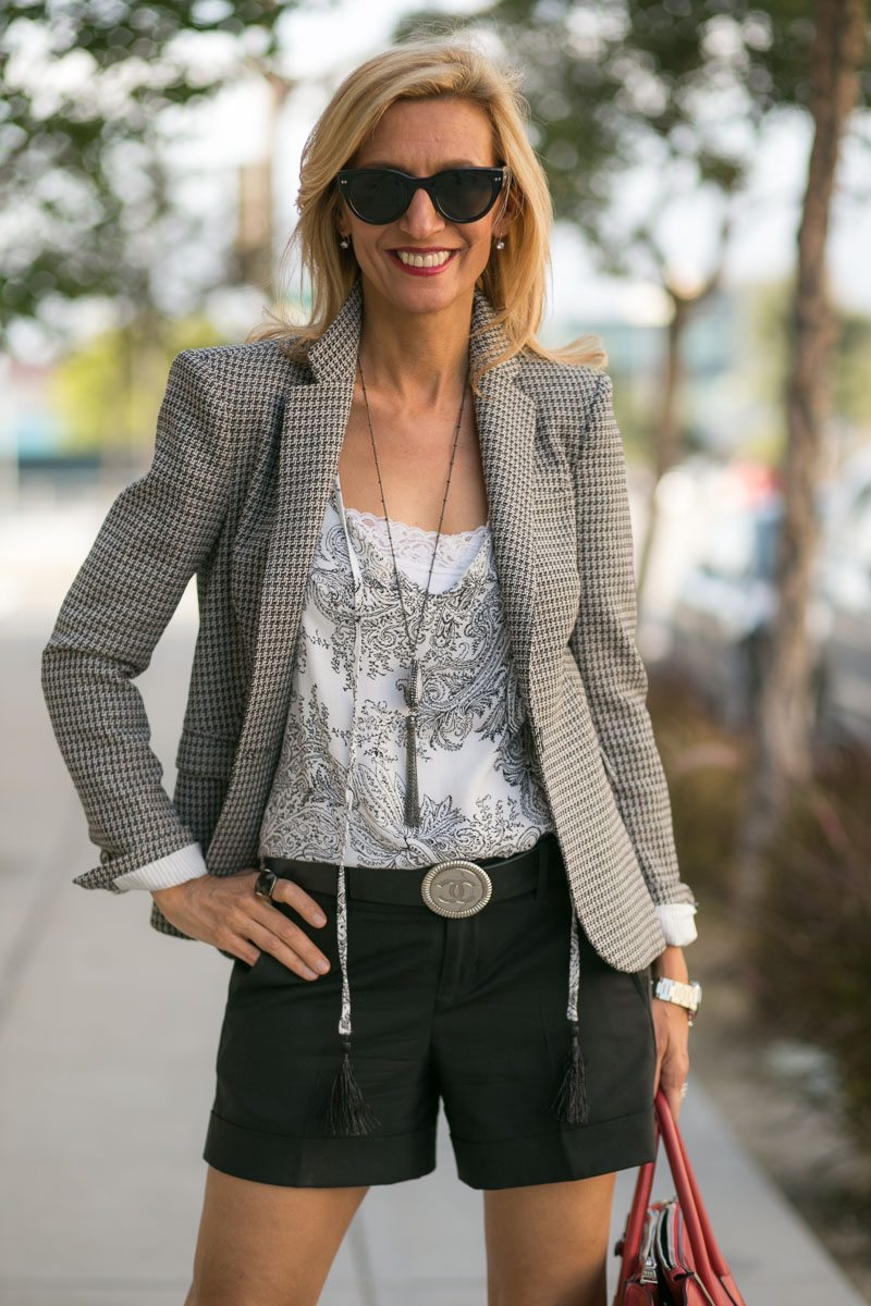 Mixing Patterns With Our Gypsy Print Top And Milano Blazer-Jacket-Society-5173