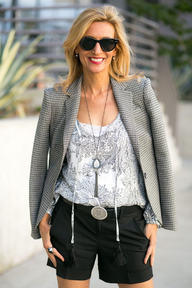 Mixing Patterns With Our Gypsy Print Top And Milano Blazer-Jacket-Society-5189