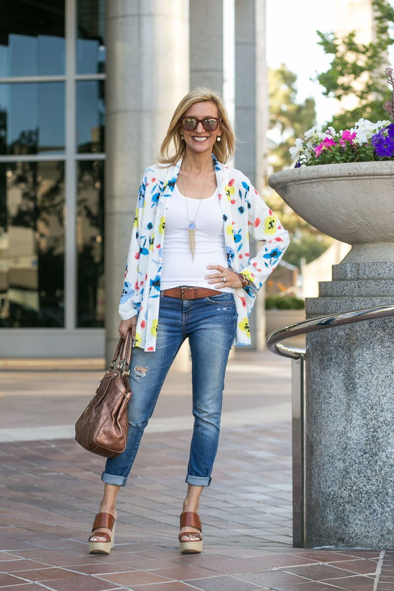 Our Blossom Print Jacket Perfect For Summer-Jacket-Society-5127