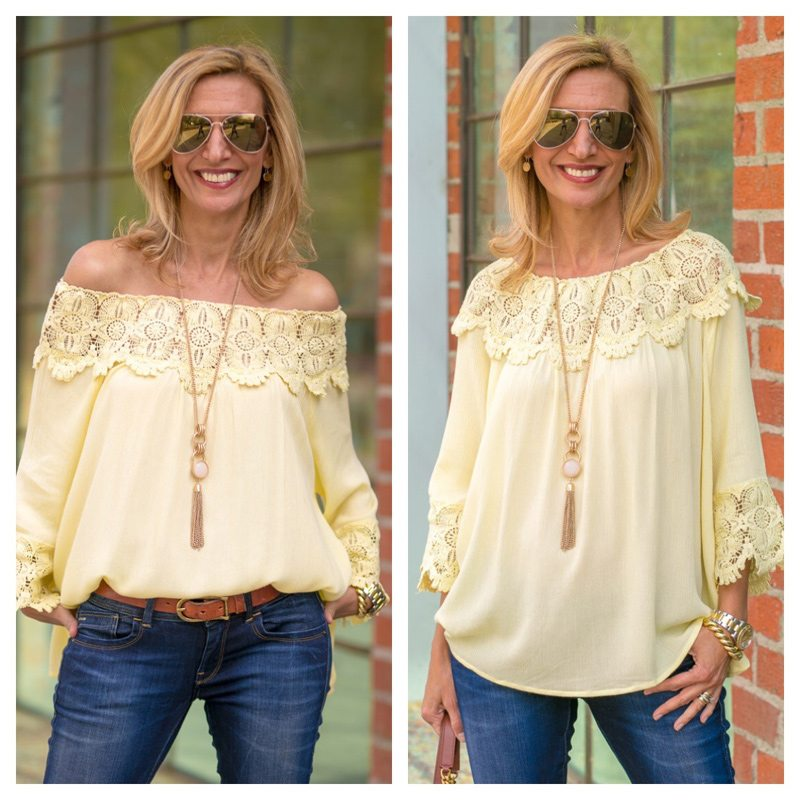 Maize Yellow Off The Shoulder Top