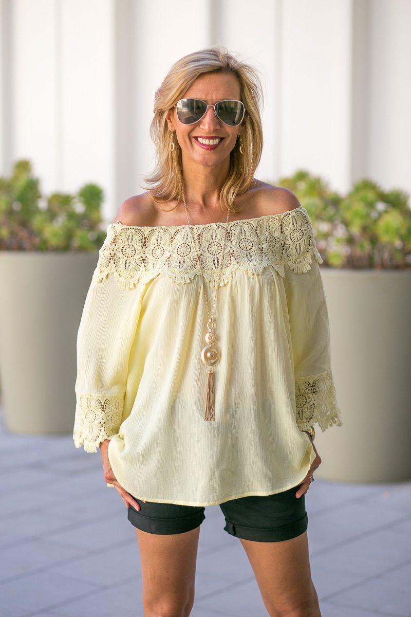 Maize-Yellow-Womens-Off-The-Shoulder-Top-Jacket-Society-6022