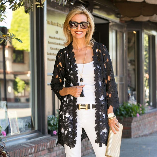 womens black lace jacket for summer
