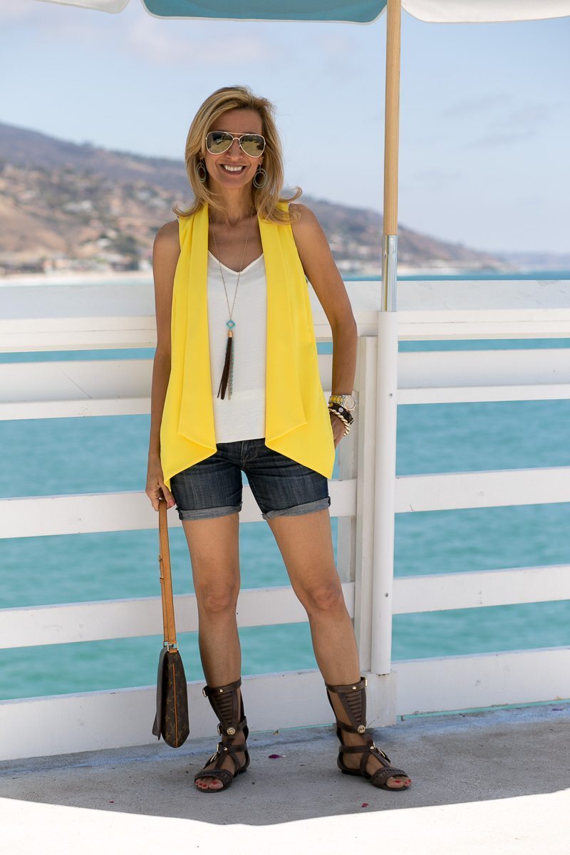 Canary yellow womens vest