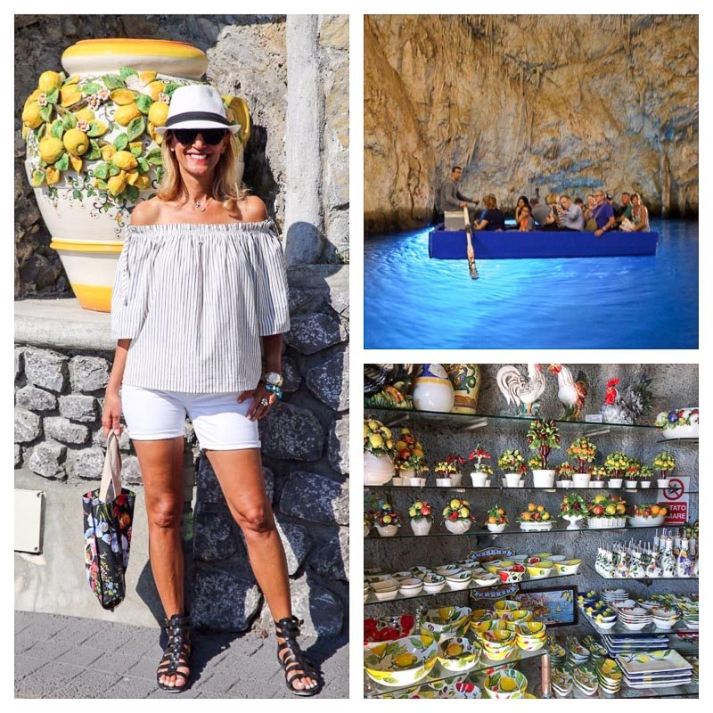 The Emerald Grotto And The Ceramic Shops