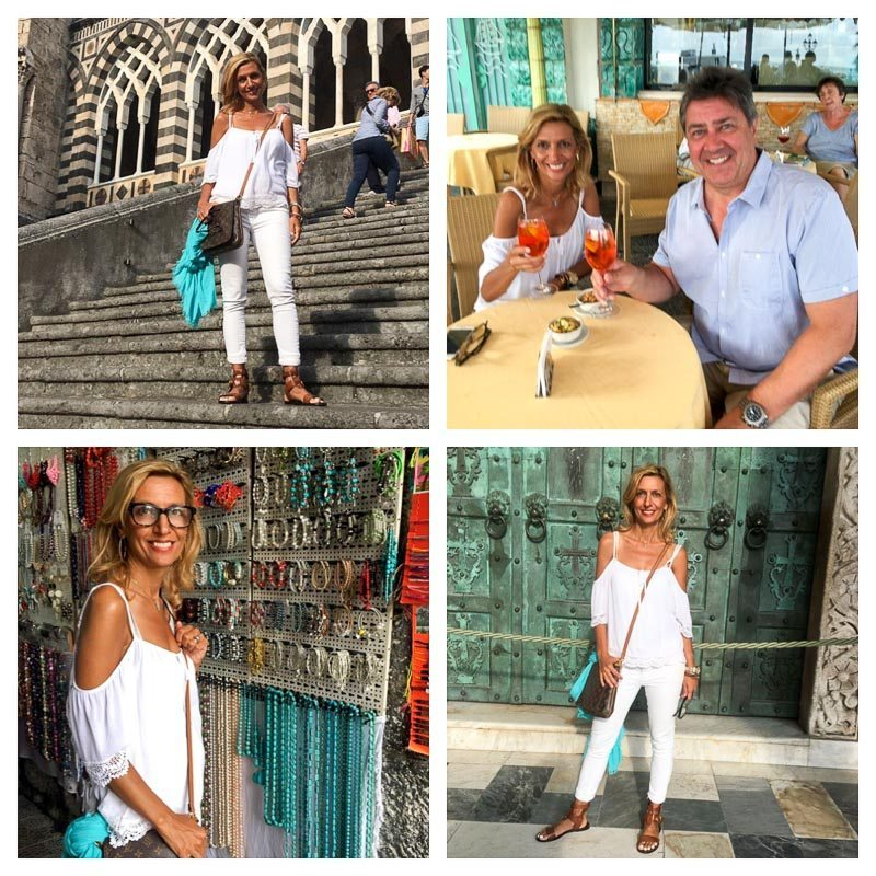 The Town Of Amalfi - And Our Favorite Stop Here For A Good Aperol Spritz