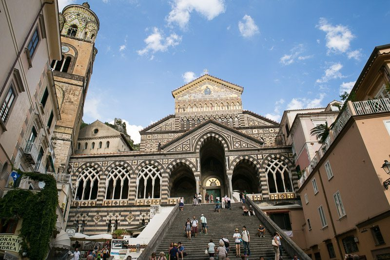 The Amalfi Cathedral From The Piazza del Duomo
