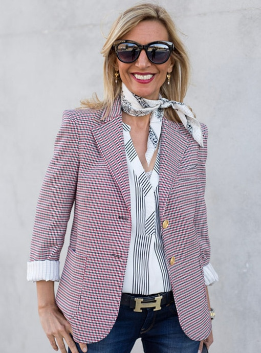 The Blaire Houndstooth Blazer