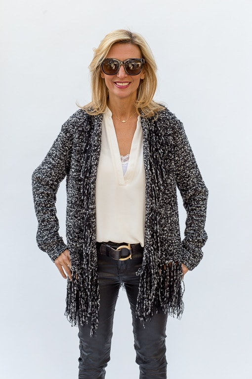 black-and-white-boucle-cardigan-with-fringe