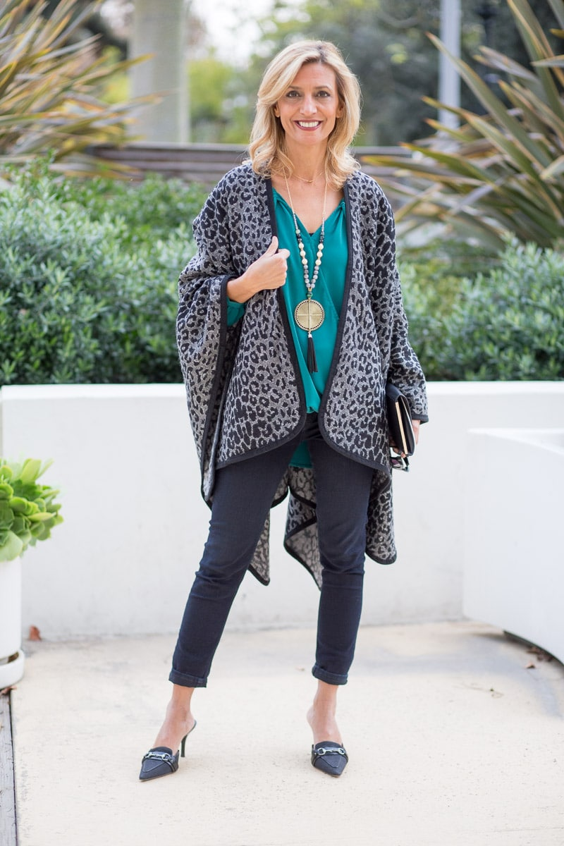 Black-and-Gray-Leopard-Poncho