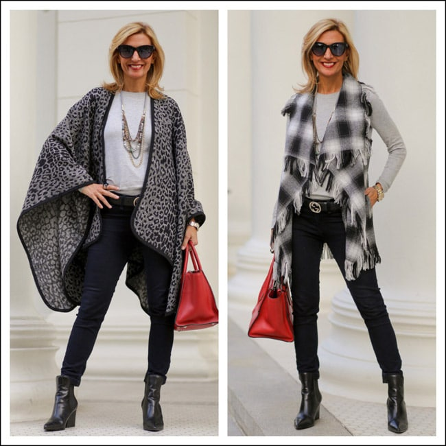Leopard-Print-Poncho-Plaid-Finge-Vest-Jacket-Society