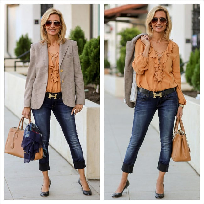 Watson-Blazer-And-Honey-Ruffle-Blouse-Feat