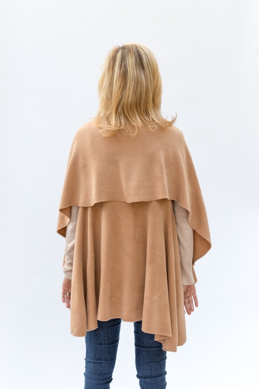 Camel-Womens-Cape-Vest-Jacket-Society