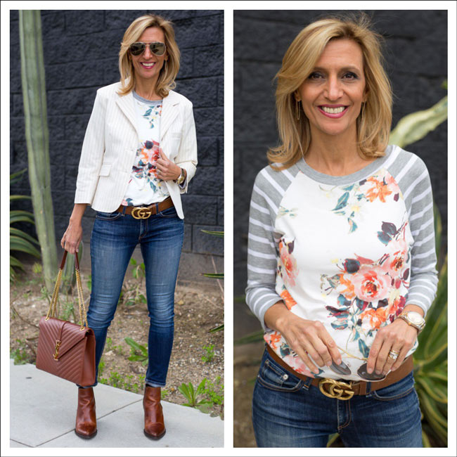 Floral-And-Stripe-T-Shirt-A-Perfect-Mix-Jacket-Society-feat