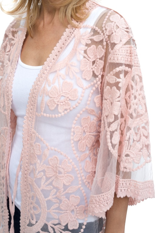 Blush Lace Jacket Shop Online With Us At 88 00