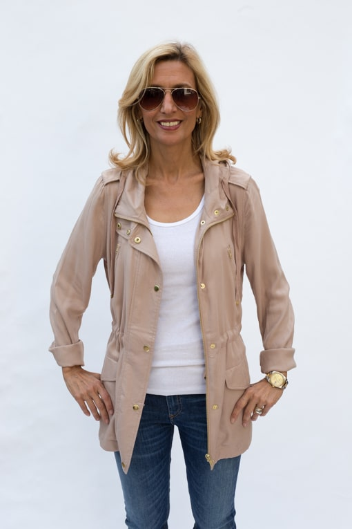 Taupe Hooded Cargo Jacket