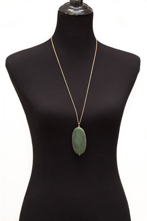 Jade Acrylic Stone Necklace
