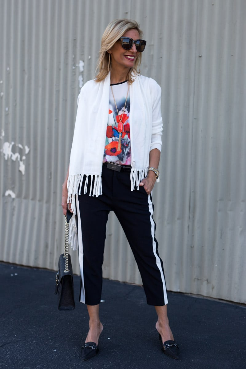 Spring Bloom Graphic Tee Styled With Our Milano Blazer