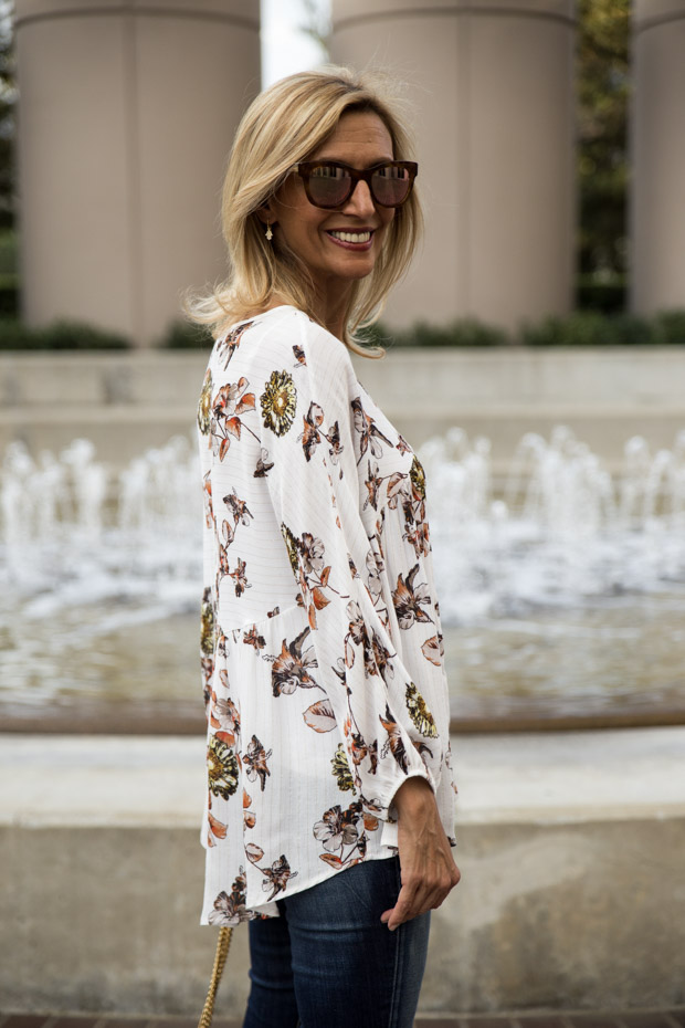 Ivory Print blouse side view