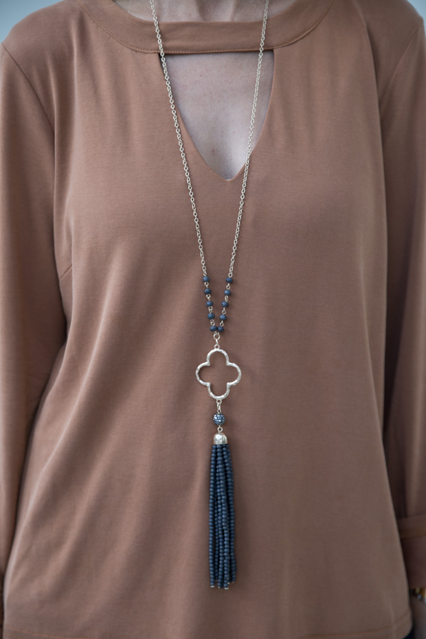 bronze long sleeve top with neckband