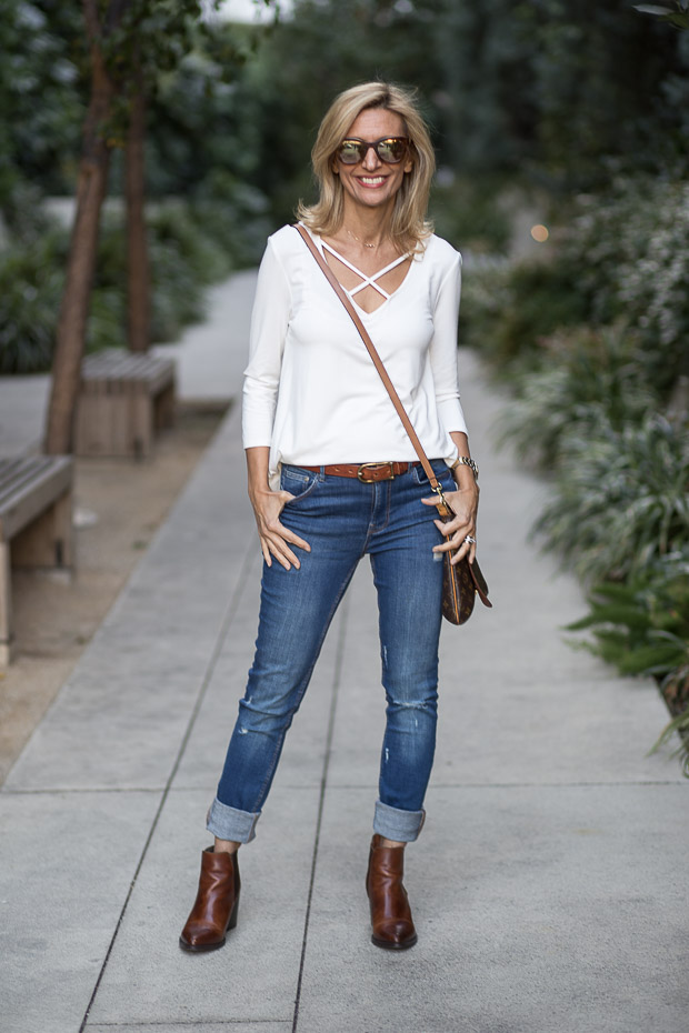 Ivory Criss Cross Blouse