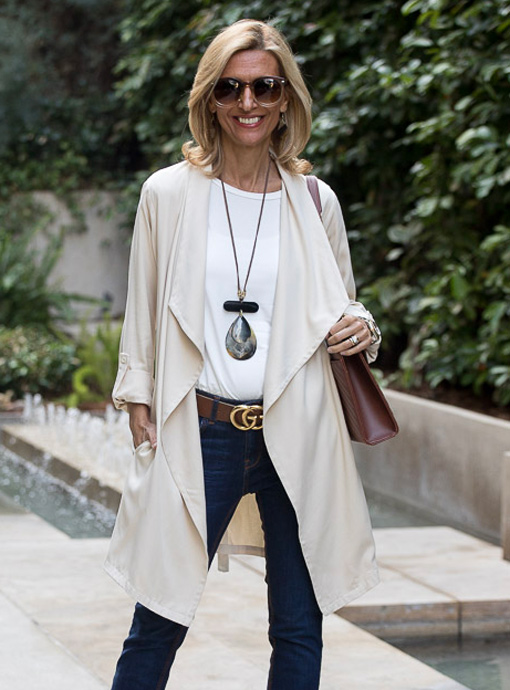 Butter Cascading Collar Rayon Duster Coat