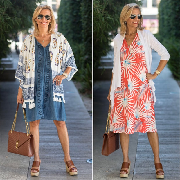 take a look at two easy to wear dresses for summer