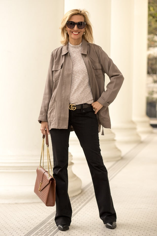 Styling Neutral Colors For Fall with a olive four pocket cargo jacket