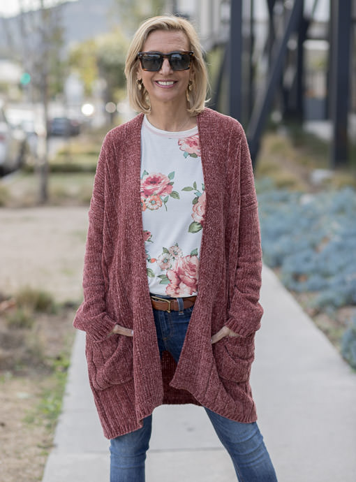 Sienna Long Chenille Cardigan With Pockets